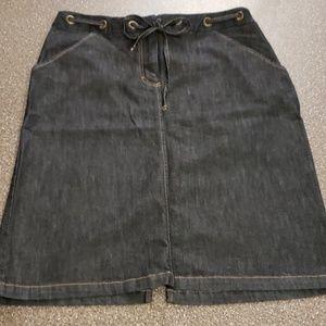 Williams Smith Dark Denim Skirt